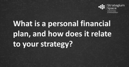 What is a personal financial plan