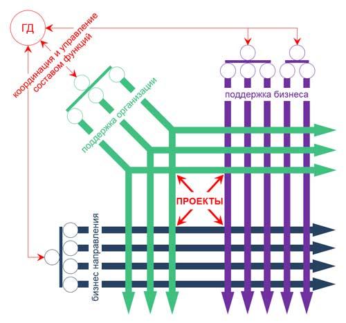 проектно ориентированная организационная структура компании