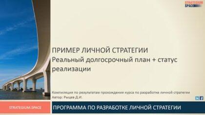 пример личной стратегии Рыцев Дмитрий